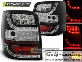 VW Passat B5 96-00 Универсал Фонари светодиодные, черные с светодиодным поворотником