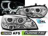 BMW X5 E70 07-10 Фары с светодиодными ангельскими глазками под AFS ксенон хром