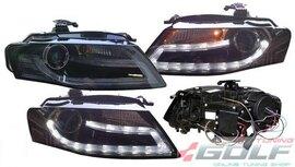 Audi A4 B8 8K 08-11 Фары lightbar design черные