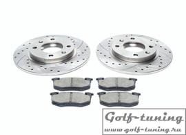 Citroen/Peugeot Комплект спортивных тормозных дисков и колодок