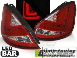 Ford Fiesta MK7 12-15 Хэтчбэк Фонари Led bar светодиодные, красно-белые