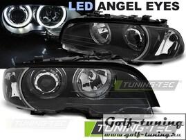 BMW E46 99-03 Купе/Кабрио Фары с LED ангельскими глазками черные