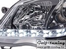 VW Polo 9N 05-09 Фары Devil eyes, Dayline хром