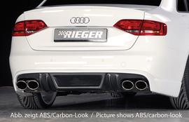 Audi A4/S4 B8 07-11 Диффузор для заднего бампера черный