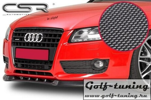 Audi A5 07- Накладка на передний бампер Carbon Look