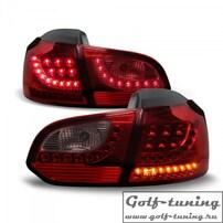 VW Golf 6 Фонари светодиодные, красно-тонированные с светодиодным поворотником Urban Style