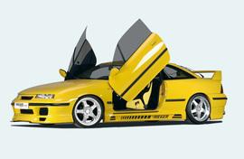 Opel Calibra Накладки на пороги