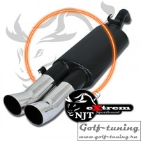 VW Golf 2 Глушитель Tourin 2x76mm eXtrem
