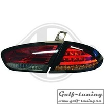 Seat Leon 1P1 09-12 Фонари светодиодные, красно-тонированные