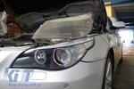 BMW E60 03-07 Стекло для галогеновой фары левое