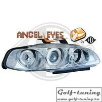 Honda Civic 92-95 2D/3D Фары с линзами и ангельскими глазками хром