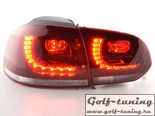 VW Golf 6 Фонари светодиодные, красно-белые R-Look