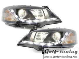 Opel Astra G Фары Devil eyes, Dayline черные