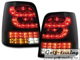VW Touran 03-10 Фонари светодиодные, черно-тонированные