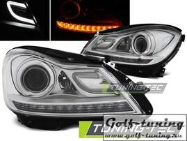 Mercedes W204 11-14 Фары с линзами хром
