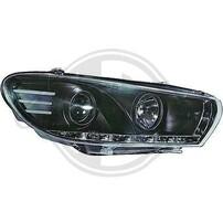 VW Scirocco 15-17 Фары Devil eyes, Dayline черные
