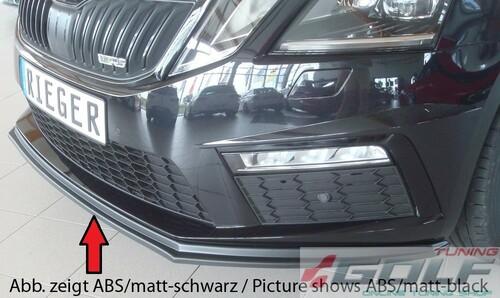 Skoda Octavia A7 RS Седан/Универсал 17-19 Накладка на передний бампер /сплиттер глянцевая