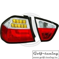 BMW E90 05-08 Седан Фонари светодиодные, красно-белые Lightbar design