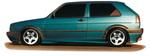 VW Golf 2 3Дв Накладки на пороги