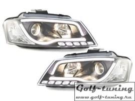 Audi A3 8P 08-12 Фары Devil eyes, Dayline черные