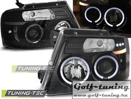 Ford F150 04-08 Фары Angel eyes черные