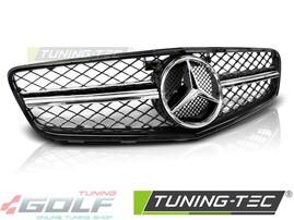 Mercedes W204 07-14 Решетка радиатора в стиле C63 глянцевая