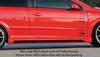 Opel Astra H GTC Накладки на пороги Carbon Look