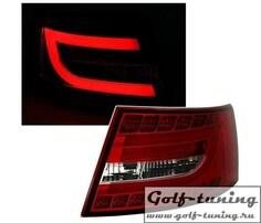 Audi A6 4F 04-08 Седан Фонари светодиодные, красно-белые lightbar design
