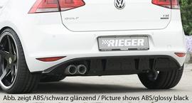 VW Golf 7 12-17 Диффузор для заднего бампера carbon look