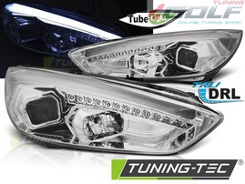 Ford Focus 3 15- Фары lightbar design хром
