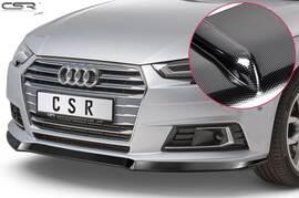 Audi A4 B9 (Typ 8W) 2015-04/2019 Накладка на передний бампер carbon look