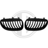 BMW E60/E61 03-07 Решетки радиатора (ноздри) матовые