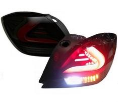 Opel Astra H GTC Фонари светодиодные, черные Lightbar