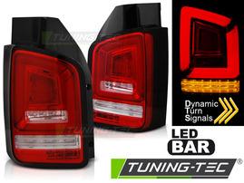 VW T5 03-09 Фонари led bar красно-белые с бегающим поворотником