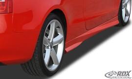 Audi A5 2007-2016 Coupe/Cabrio Накладки на пороги Turbo черные, окрашенные