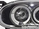 VW Golf 3 Фары с линзами и ангельскими глазками хром