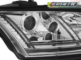 Audi TT 8J 06-10 Фары lightbar design хром под ксенон