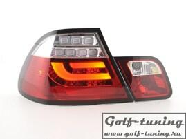 BMW E46 99-02 Купе Фонари светодиодные, красно-белые lightbar design