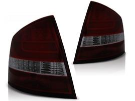 Skoda Octavia 04-11 Седан Фонари lightbar design красно-тонированные
