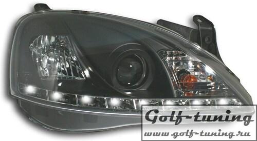Opel Corsa C Фары Devil eyes, Dayline черные