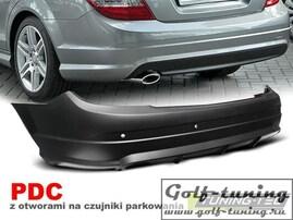 Mercedes W204 07-11 Бампер задний AMG Look
