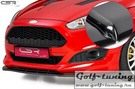 Ford Fiesta MK7 ST-Line 13- Накладка на передний бампер Cupspoilerlippe carbon look
