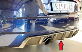 Audi TT (8J-FV/8S) S-Line 14-18/18- Накладка на задний бампер/диффузор carbon look
