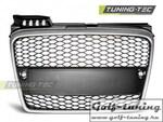Audi A4 B7 04-08 Решетка радиатора без значка хром RS-Type матовая