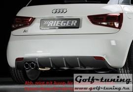 Audi A1 8X 10-14 Накладка на задний бампер/диффузор carbon look