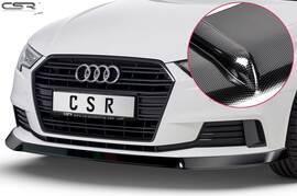 Audi A3 8V  04/2016- Накладка на передний бампер carbon look