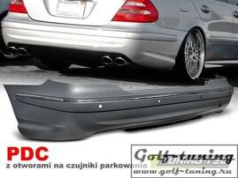 Mercedes W211 06-09 Бампер задний E63 Look