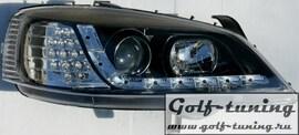 Opel Astra G Фары Devil eyes, Dayline черные с светодиодным поворотником
