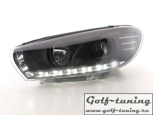VW Scirocco 08-14 Фары Devil eyes, Dayline черные