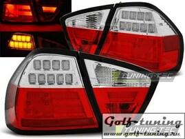 BMW E90 05-08 Фонари светодиодные, красно-белые Lightbar с светодиодным поворотником